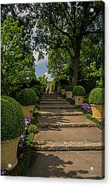 Pathway Up To De Golyer House Acrylic Print by Allen Sheffield