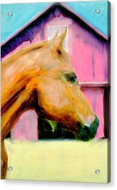 Acrylic Print featuring the painting Patience by FeatherStone Studio Julie A Miller