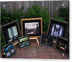 Patio Art Show Acrylic Print