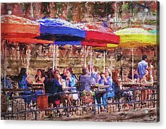 Patio At The Riverwalk Acrylic Print