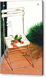 Patio Rose, Prints From Original Oil Paintings Acrylic Print