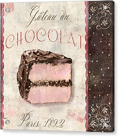 Patisserie Gateau Au Chocolat Acrylic Print