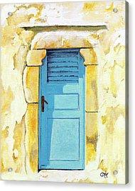Patmos Door Acrylic Print