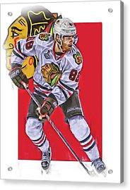 Patrick Kane Chicago Blackhawks Oil Art Series 2 Acrylic Print by Joe Hamilton