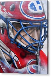 Patrick Roy ... Acrylic Print by Juergen Weiss