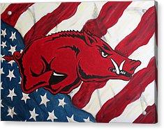 Patriot Hog Acrylic Print