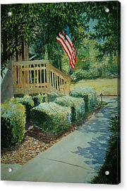 Patriot Next Door Acrylic Print by Shirley Braithwaite Hunt