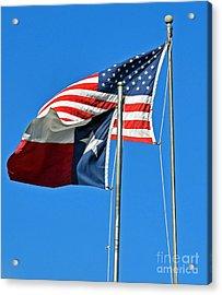 Patriot Proud Texan  Acrylic Print
