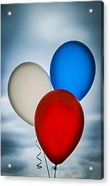 Patriotic Balloons Acrylic Print by Carolyn Marshall