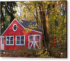 Acrylic Print featuring the photograph Patriotic Barn by Margie Avellino