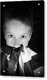 Patriotic Boy Acrylic Print