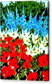 Patriotic Garden Acrylic Print by Diane Ursin