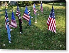 Patriotic Lawn Ornaments Represent Acrylic Print by Stephen St. John