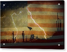 Patriotic Operation Desert Storm Acrylic Print by James BO  Insogna