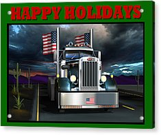 Acrylic Print featuring the digital art Patriotic Pete Happy Holidays by Stuart Swartz
