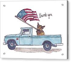 Patriotic Puppy Card Acrylic Print