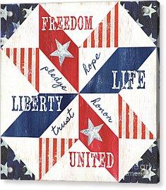 Patriotic Quilt 1 Acrylic Print by Debbie DeWitt