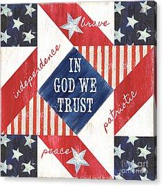 Patriotic Quilt 2 Acrylic Print