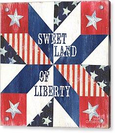 Patriotic Quilt 3 Acrylic Print by Debbie DeWitt