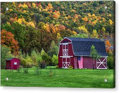 Patriotic Red Barn Acrylic Print
