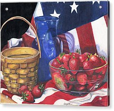 Patriotic Strawberries Acrylic Print