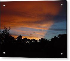 Acrylic Print featuring the photograph Patriotic Sunset by Kerry Beverly