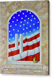 Acrylic Print featuring the painting Patriotic View by Mary Scott