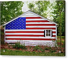 Patriots Garage Acrylic Print