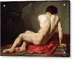Patrocles Acrylic Print by Jacques Louis David