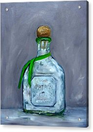 Patron Silver Tequila Bottle Man Cave  Acrylic Print
