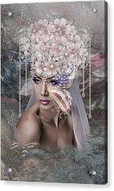 Patriotic Bride Acrylic Print