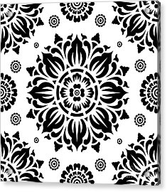 Pattern Art 01-2 Acrylic Print by Bobbi Freelance