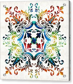 Pattern Art - Color Fusion Design 7 By Sharon Cummings Acrylic Print by Sharon Cummings