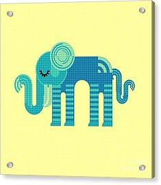 Pattern Elephant Acrylic Print