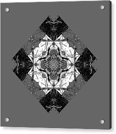 Pattern In Black White Acrylic Print
