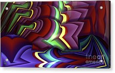 Pattern Acrylic Print by Ron Bissett