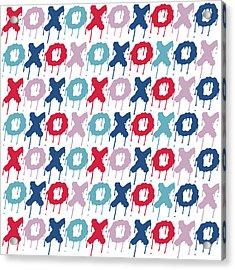 Pattern X O  Acrylic Print by Mark Ashkenazi