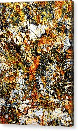 Acrylic Print featuring the photograph Patterns In Stone - 207 by Paul W Faust - Impressions of Light