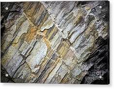 Acrylic Print featuring the photograph Patterns In The Rock by Kerri Farley