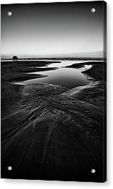 Acrylic Print featuring the photograph Patterns In The Sand by Jon Glaser