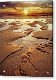 Patterns In The Sand Acrylic Print