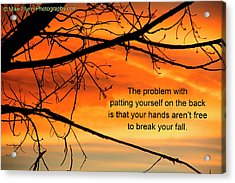 Patting Yourself On The Back Acrylic Print