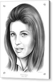 Patty Duke Acrylic Print by Greg Joens