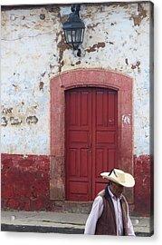 Patzcuaro Street Scene Acrylic Print