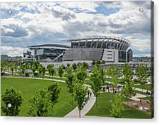 Paul Brown Stadium Color Acrylic Print by Scott Meyer