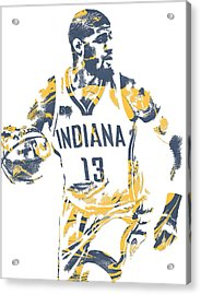 Paul George Indiana Pacers Pixel Art 10 Acrylic Print