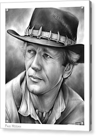 Paul Hogan Acrylic Print by Greg Joens