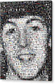 Paul Mccartney Beatles Mosaic Acrylic Print