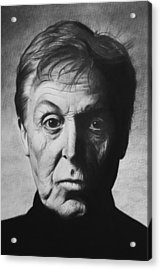 Paul Mccartney Acrylic Print by Steve Hunter