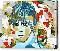Paul Mccartney Acrylic Print by Suzanne Gee
